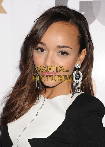 Ashley Madekwe.Arriving at the GQ Men Of The Year Party at Chateau Marmont Hotel in Los Angeles, California, USA..November 13th, 2012.headshot portrait white black silver hoop earrings .CAP/ROT/TM.©Tony Michaels/Roth Stock/Capital Pictures