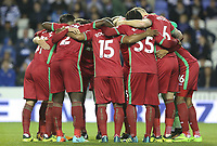 Swansea City huddle prior to kick off of the Carabao Cup Third Round match between Reading and Swansea City at Madejski Stadium, Reading, England, UK. Tuesday 19 September 2017