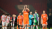 Blackpool's Ben Heneghan at the end of today match<br /> <br /> Photographer Rachel Holborn/CameraSport<br /> <br /> The EFL Sky Bet League One - Doncaster Rovers v Blackpool - Tuesday 27th November 2018 - Keepmoat Stadium - Doncaster<br /> <br /> World Copyright &copy; 2018 CameraSport. All rights reserved. 43 Linden Ave. Countesthorpe. Leicester. England. LE8 5PG - Tel: +44 (0) 116 277 4147 - admin@camerasport.com - www.camerasport.com