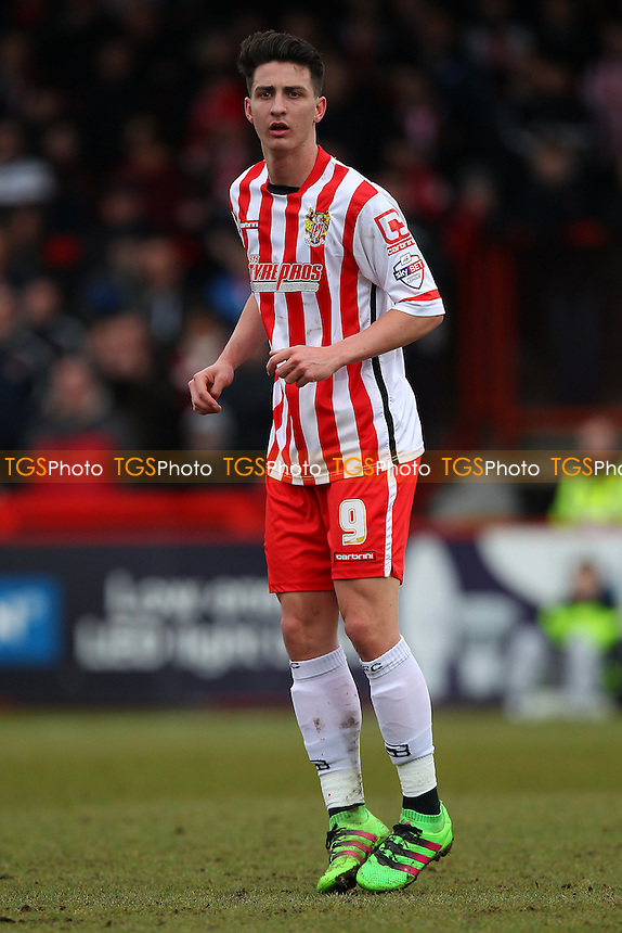 Greg Luer of Stevenage during Stevenage vs Northampton Town, Sky Bet League 2 Football at the Lamex Stadium on 19th March 2016