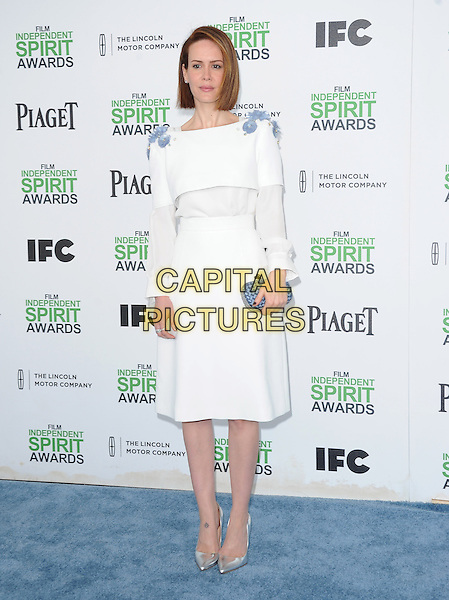 SANTA MONICA, CA, MARCH 01: Sarah Paulson at The 2014 Film Independent Spirit Awards held at Santa Monica Beach in Santa Monica, California, USA on March 1st, 2014.                                                                              <br /> CAP/DVS<br /> &copy;Debbie VanStory/Capital Pictures