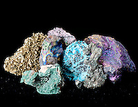 COLORFUL ORES OF COPPER &amp; ONE IRON ORE<br />