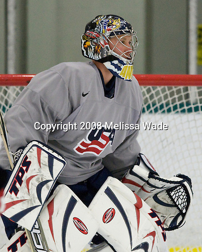 "Craig Anderson (USA 30 - Florida Panthers/Guelph Storm) - Team USA practiced and then held a skate with the fans to benefit ""Opportunity Skate"" at the Family Ice Center in Falmouth, Maine on Saturday, April 26, 2008."