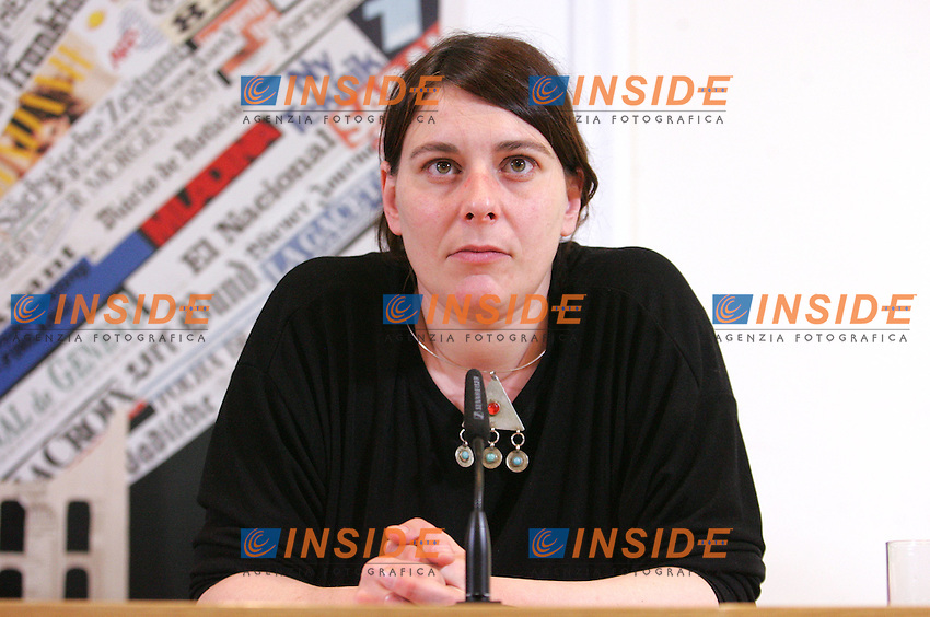 CECILIA STRADA, PRESIDENT OF EMERGENCY<br /> CECILIA STRADA, PRESIDENTE DI EMERGENCY<br /> Roma 16/04/2010 Conferenza stampa di Emergency al circolo della Stampa Estera per parlare dell'arresto dei tre volontari in Afghanistan e della manifestazione di sabato.<br /> Press conference of Emergency to talk about the three volounteers arrested in Afghanistan and about the demonstration that will take place in rome on Saturday.<br /> Photo Samantha Zucchi Insidefoto
