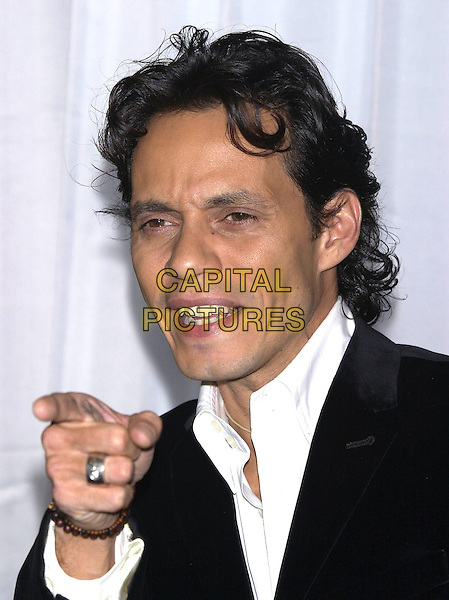 MARK ANTHONY.World Music Awards (WMA's), Las Vegas, Nevada, USA,.September 15th 2004..half length pointing gesture.Ref: PL.www.capitalpictures.com.sales@capitalpictures.com.©Capital Pictures.