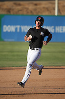 Dylan Moore (6) of the High Desert Mavericks runs the bases during a game against the Rancho Cucamonga Quakes at Heritage Field on August 7, 2016 in Adelanto, California. Rancho Cucamonga defeated High Desert, 10-9. (Larry Goren/Four Seam Images)