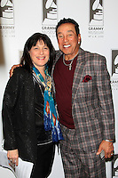 LOS ANGELES - JAN 28: Roz Wolf, Smokey Robinson at the 30th Anniversary of 'We Are The World' at The GRAMMY Museum on January 28, 2015 in Los Angeles, California