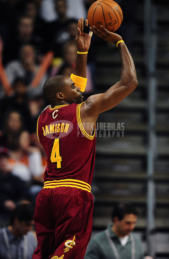 Jan. 12, 2012; Phoenix, AZ, USA; Cleveland Cavaliers forward Antawn Jamison during the game against the Phoenix Suns at the US Airways Center. The Cavaliers defeated the Suns 101-90. Mandatory Credit: Mark J. Rebilas-USA TODAY Sports