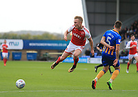 Kyle Dempsey of Fleetwood Town during the Sky Bet League 1 match between Shrewsbury Town and Fleetwood Town at Greenhous Meadow, Shrewsbury, England on 21 October 2017. Photo by Leila Coker / PRiME Media Images.
