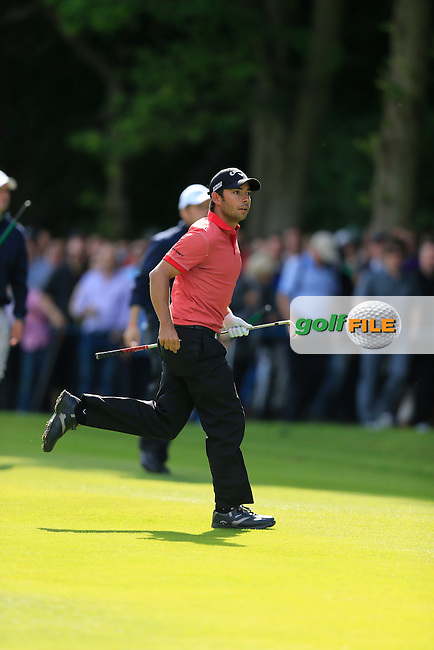 Pablo LARRAZABAL (ESP) on the 17th during the final round of the BMW PGA championship, Wentworth Golf Club, Virginia Water, London.<br /> Picture: Fran Caffrey www.golffile.ie