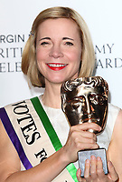 Lucy Worsley at the Virgin Media BAFTA Television Awards 2019 - Press Room at The Royal Festival Hall, London on May 12th 2019<br /> CAP/ROS<br /> ©ROS/Capital Pictures