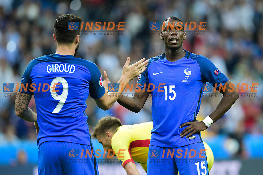Olivier Giroud, Paul Pogba Francia <br /> Paris 10-06-2016 Stade de France football Euro2016 France - Romania  / Francia - Romania Group Stage Group A. Foto JB Autissier / Panoramic / Insidefoto