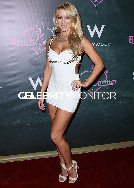 HOLLYWOOD, LOS ANGELES, CA, USA - AUGUST 28: Kirsty Lingman arrives at the Benchwarmer Back To School Celebration to Benefit Children of the Night held at Station Hollywood at the W Hotel Hollywood on August 28, 2014 in Hollywood, Los Angeles, California, United States. (Photo by Xavier Collin/Celebrity Monitor)