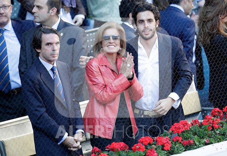 Jose Maria Aznar, his wife Ana Botella and their son Alonso Aznar Botella winner in the Tennis Madrid Open ATP Singles Final, May 16,2010..(Alfaqui/Cesar Cebolla)