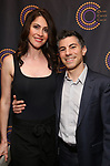 Peter Hylenski and wife attends The 69th Annual Outer Critics Circle Awards Dinner at Sardi's on May 23, 2019 in New York City.