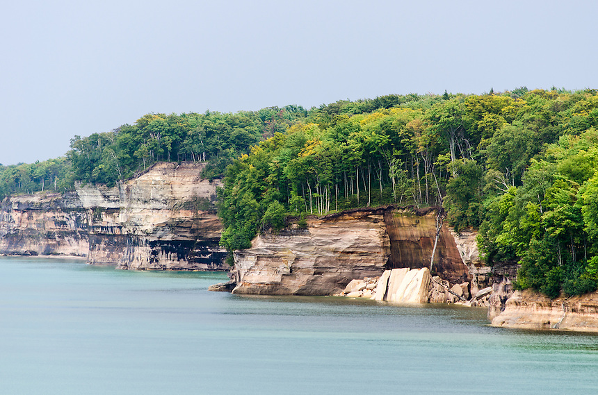 An early sign of autumn along the Pictured Rocks National Lakeshore. Munising, MI