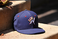 Northwest Arkansas Naturals cap during the game against the Tulsa Drillers at Oneok Stadium on May 1, 2016 in Tulsa, Oklahoma.  Northwest Arkansas won 7-5.  (Dennis Hubbard/Four Seam Images)