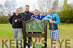 A GOLFING CLASSIC FOURSOME: (l-r) The F.A.I.'s Dr David Hall, with Republic of Ireland Masters players Paul McNally, Paul McGee and Brian Morrisroe get ready to tee off at the Ring of Kerry Golf Club Inter Kenmare Classic.