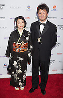 NEW YORK, NY - NOVEMBER 19: Kaori Togashi and Muneyoshi Nowara at the 40th International Emmy Awards in New York. November 19, 2012. © Diego Corredor/MediaPunch Inc. /NortePhoto