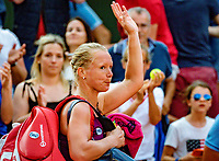 Paris, France, 02 June, 2018, Tennis, French Open, Roland Garros, Kiki Bertens (NED) leaves the court with a tight face after loting to Kerber (GER)<br /> Photo: Henk Koster/tennisimages.com
