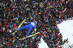 FIS Ski Jumping World Cup - 4 Hills Tournament 2019 in Innsvruck on January 4, 2019;  Andreas Schuler (SUI) in action above the crowd