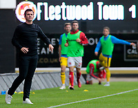 Fleetwood Town Manager Joey Barton looks on from the touchline<br /> <br /> Photographer David Shipman/CameraSport<br /> <br /> The EFL Sky Bet League One - Oxford United v Fleetwood Town - Saturday August 11th 2018 - Kassam Stadium - Oxford<br /> <br /> World Copyright &copy; 2018 CameraSport. All rights reserved. 43 Linden Ave. Countesthorpe. Leicester. England. LE8 5PG - Tel: +44 (0) 116 277 4147 - admin@camerasport.com - www.camerasport.com