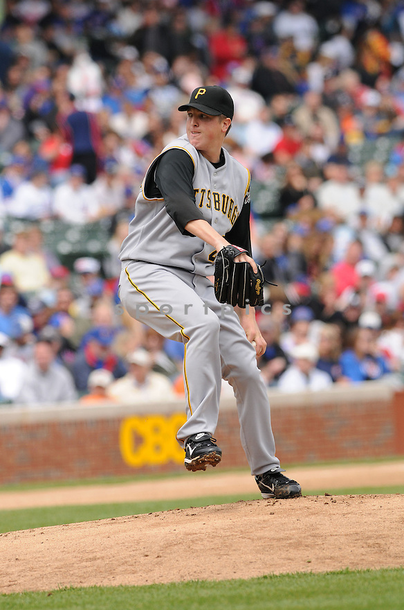 TOM GORZELANNY, of the  Pittsburgh Pirates  , in action against the Chicago Cubs   during the Pirates game in Chicago, IL on April 19, 2008. The Cubs won the game 13-1.
