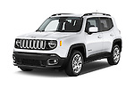2015 JEEP Renegade Latitude Door Sport Utility Vehicle Angular Front stock photos of front three quarter view