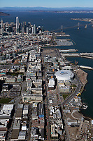aerial photograph of the Third Street corridor, Mission Bay, San Francisco, California