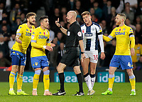 The Leeds United players argue with Referee Lee Mason<br /> <br /> Photographer David Shipman/CameraSport<br /> <br /> The EFL Sky Bet Championship - West Bromwich Albion v Leeds United - Saturday 10th November 2018 - The Hawthorns - West Bromwich<br /> <br /> World Copyright &copy; 2018 CameraSport. All rights reserved. 43 Linden Ave. Countesthorpe. Leicester. England. LE8 5PG - Tel: +44 (0) 116 277 4147 - admin@camerasport.com - www.camerasport.com