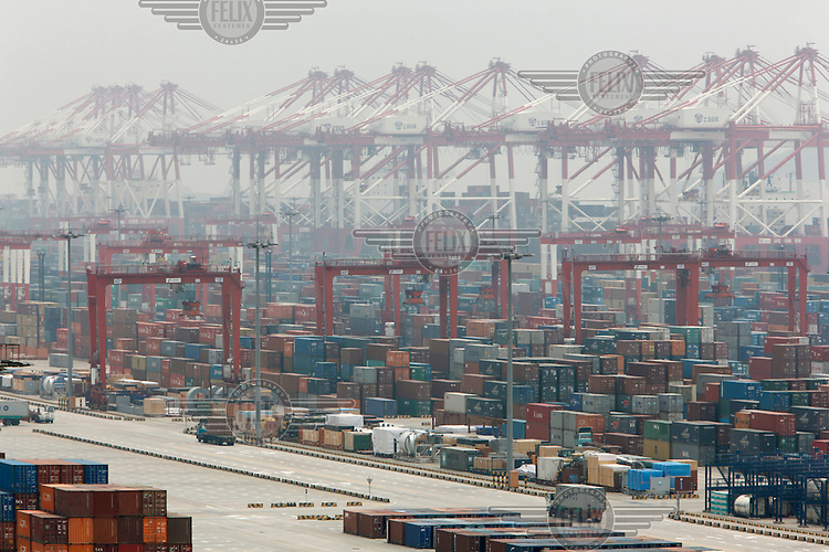 Yangshan Deepwater Container Port, part of  five major working zones that make up The Port of Shanghai, the world's busiest port in terms of container volume.