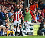 Chris Wilder manager of Sheffield Utd instructs Stefan Scougall of Sheffield Utd during the English League One match at Glanford Park Stadium, Scunthorpe. Picture date: September 24th, 2016. Pic Simon Bellis/Sportimage