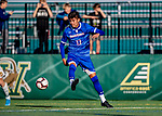 26 October 2019: University of Massachusetts Lowell River Hawk Backfielder German Fuentes, a Sophomore from Joroco, El Salvador, in second half action against the University of Vermont Catamounts at Virtue Field in Burlington, Vermont. The Catamounts rallied to defeat the River Hawks 2-1, propelling the Cats to the America East Division 1 conference playoffs. Mandatory Credit: Ed Wolfstein Photo *** RAW (NEF) Image File Available ***