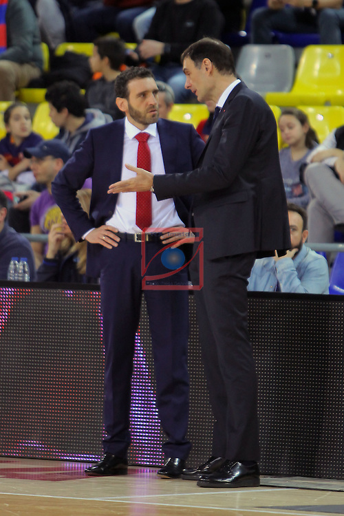 League ACB-ENDESA 2016/2017 - Game: 21.<br /> FC Barcelona Lassa vs ICL Manresa: 92-72.<br /> Ibon Navarro &amp; Georgios Bartzokas.