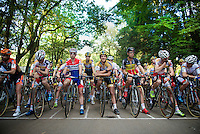 riders waiting for the go at the start grid<br /> <br /> GP Neerpelt 2014