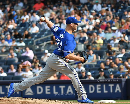J.A. Happ (Blue Jays),<br /> MAY 26, 2016 - MLB : J.A. Happ of the Toronto Blue Jays during the Major League Baseball game at Yankee Stadium in the Bronx, NY, USA.<br /> (Photo by Hiroaki Yamaguchi/AFLO)
