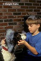 BH22-053z  Bubbles - boy washing dog