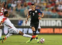 Jacksonville, FL - September 6, 2016: The U.S. Men's National team go up 1-0 over Trinidad & Tobago in a World Cup Qualifier (WCQ) match at EverBank Field.