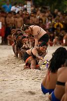 X JOGOS DOS POVOS INDÍGENAS <br /> Guerreiras Assurini no cabo de guerra<br /> Os Jogos dos Povos Indígenas (JPI) chegam a sua décima edição. Neste ano 2009, que acontecem entre os dias 31 de outubro e 07 de novembro. A data escolhida obedece ao calendário lunar indígena. com participação  cerca de 1300 indígenas, de aproximadamente 35 etnias, vindas de todas as regiões brasileiras. <br /> Paragominas , Pará, Brasil.<br /> Foto Paulo Santos<br /> 03/11/2009