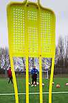 Doncaster Rovers Belles 1 Chelsea Ladies 4, 20/03/2016. Keepmoat Stadium, Womens FA Cup. Doncaster Rovers Belles Head Coach Glenn Harris conducts a training session on the astroturf pitch outside The Keepmoat Stadium. Photo by Paul Thompson.