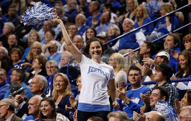 Ashley Judd attended the game between the University of Kentucky and the University of North Carolina at Rupp Arena in Lexington, Ky., on Saturday, Dec. 3, 2011. Photo by Latara Appleby | Staff ..