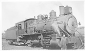 3/4 engineer's-side view of Colorado Midland #203 with her fireman.<br /> Colorado Midland