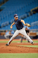 Alex Valverde (24) delivers a pitch during the Tampa Bay Rays Instructional League Intrasquad World Series game on October 3, 2018 at the Tropicana Field in St. Petersburg, Florida.  (Mike Janes/Four Seam Images)