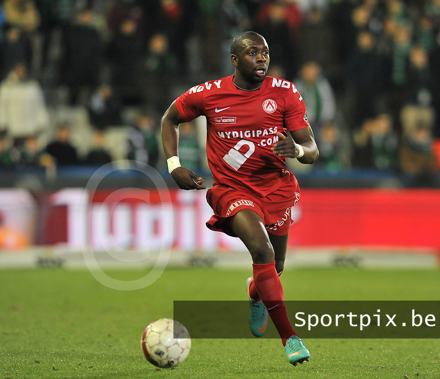Cercle Brugge - KV Kortrijk : Alassane Tambe.foto VDB / BART VANDENBROUCKE