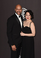 LOS ANGELES, CALIFORNIA - JANUARY 06: Keegan-Michael Key and Elisa Pugliese attend the Warner InStyle Golden Globes After Party at the Beverly Hilton Hotel on January 06, 2019 in Beverly Hills, California. <br /> CAP/MPI/IS<br /> &copy;IS/MPI/Capital Pictures