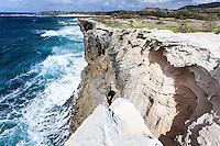 Sea cliff at Gillin's Beach, south shore of Kauai