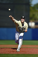 Vanderbilt Commodores pitcher Tyler Ferguson (45) delivers a pitch during a game against the Indiana State Sycamores on February 21, 2015 at Charlotte Sports Park in Port Charlotte, Florida.  Indiana State defeated Vanderbilt 8-1.  (Mike Janes/Four Seam Images)