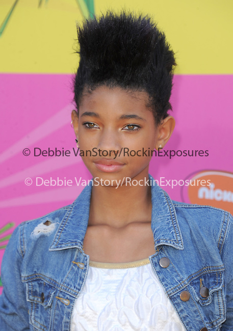 Willow Smith at The Nickelodeon's Kids' Choice Awards 2013 held at The Galen Center in Los Angeles, California on March 23,2013                                                                   Copyright 2013 Hollywood Press Agency
