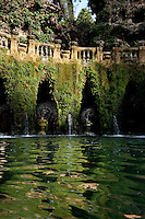 World Heritage listed Villa D' Este, Tivolo, near Rome, Italy