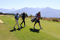 Ryan Fox (NZL) and Matthew Southgate (ENG) walk onto the 7th tee during Saturday's Round 3 of the 2018 Omega European Masters, held at the Golf Club Crans-Sur-Sierre, Crans Montana, Switzerland. 8th September 2018.<br /> Picture: Eoin Clarke | Golffile<br /> <br /> <br /> All photos usage must carry mandatory copyright credit (&copy; Golffile | Eoin Clarke)